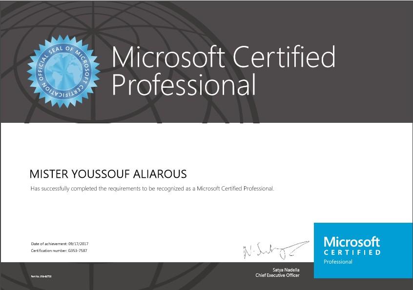 اصبحت Microsoft Certified Professional